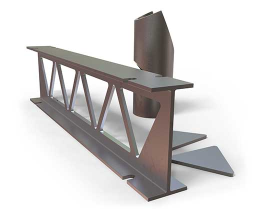mock up of a steel project